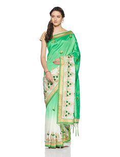 b805fa7ba72b3 Aalia Art Silk Saree With Blouse Piece (11014 Green