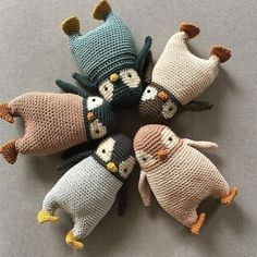 Crochet Penguin, Crochet Teddy, Cute Crochet, Crochet Baby, Knit Crochet, Simple Crochet, Crochet Rope, Crochet Stitches, Crochet Dragon Pattern