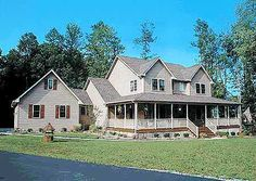 Plan W4122DB: Country Home Plan With Marvelous Porches