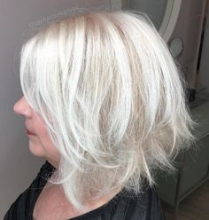 50  Layered Gray Balayage Bob