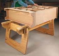 Knock Down Workstation Simple Yet The Strong Design Makes This Portable A Sawhorse Plansbench Planle