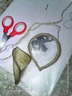 Мастер-класс Поделка изделие Моделирование конструирование Шпагатная вазочка Мк Кофе Мешковина Проволока Шпагат фото 13