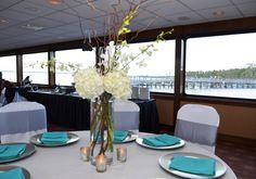 Cruising through a beautiful coastal Destin wedding on the SOLARIS yacht.
