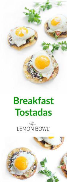 The ultimate vegetarian, high protein, gluten free breakfast recipe. #breakfast #tostadas #healthyeating