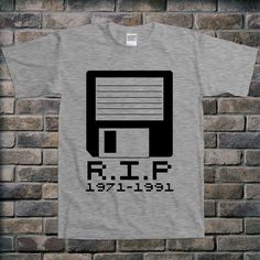 R.I.P Floppy Disk Computer Internet Funny Science by TEEBIRDS, $14.00