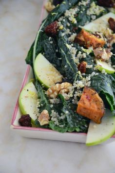 The Best Kale Salad {Gluten-Free, Dairy-Free, Soy-Free, Sugar-Free, Vegan} - The Healthy Apple Healthy Food List, Healthy Snacks For Kids, Healthy Eating, Healthy Foods, Healthy Life, Vegan Recipes Videos, Diet Recipes, Healthy Recipes, Yummy Recipes