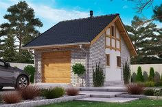 Projekt domu BW-03 wariant 5 108,7 m2 - koszt budowy - EXTRADOM Home Fashion, House Design, Cabin, House Styles, Home Decor, Little Cottages, Decoration Home, Room Decor, Cabins