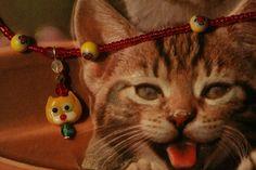 Yellow Kitty Cat Pendant Fun and Whimisical by SenoritaWhiskers, $20.00