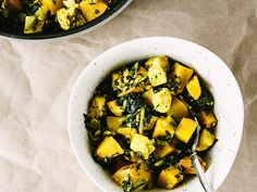 Baked pumpkin and tofu with kale - Oh, Ladycakes
