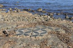 Ancient mosaic fragment abandoned by the sea, Atalanti, Greece. http://helenmilesmosaics.org/ancient-mosaics-general/mosaic-fragments-in-the-sea/
