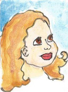 Menina em aquarela #watercolor