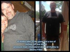 """Lisa says -- """"This is my Hubby   WOOOHOOO WAY TO GO BARRY FINALLY WE GOT PICTURES   Barry says he sleeps better, feels better and has more energy since starting SF, the only regret he has is NOT doing his measurements, 10 months later 25 lbs gone and a ton of inches, off one blood pressure med, cholesterol down all thanks to Skinny Fiber""""  Order yours here -- http://juliecole.SkinnyFiberPlus.com/"""
