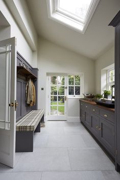 Mudroom Ideas - With these gorgeous mudroom ideas, you can make that messy entryway one of the most properly designed locations in your home. Whether your design is. ideas entryway laundry Smart Mudroom Ideas to Enhance Your Home Mudroom Laundry Room, Laundry Room Design, Modern Laundry Rooms, Laundry Room Cabinets, Blue Cabinets, Wet Rooms, Orangerie Extension, Utility Room Designs, Utility Room Ideas