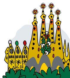 Gaudí, dibujos de Montse Noguera                                                                                           Más
