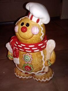Brand New Cute Gingerbread Man Cookie Jar   eBay