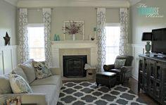 Home Tour, decor on fireplace mantel