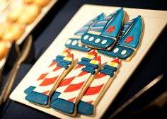 Lighthouse and Sailing Boat Cookies