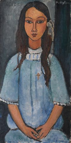 Alice by Amedeo Modigliani Framed Art Print by Elegant Chaos Gallery - Vector Black - MEDIUM Modigliani Paintings, Amedeo Modigliani, Canvas Paper, Oil On Canvas, Print Paper, Framed Art Prints, Canvas Prints, Paris Art, Old Paintings