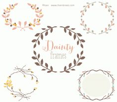 CLIP ART - Dainty Frames - for commercial and personal use