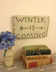 Winter Is Coming, Game of Thrones Sign,  House Stark by AlchemyHomeDecor, painted signs, rustic signs