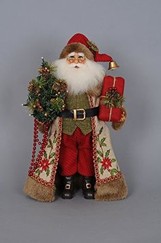 Karen Didion Collection Dimensions: x x Karen Didion Originals Figurine Item Details Our NEW Lighted Woodland Embroidery Santa i Cowboy Christmas, Father Christmas, Santa Christmas, Christmas Carol, Christmas Lights, Christmas Crafts, Christmas Ornaments, Xmas, Christmas Ideas