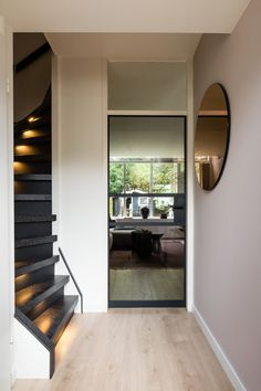 Inspiratie - GewoonGers Aluminium Deur, Flooring For Stairs, Door Design, Interior Decorating, Sweet Home, Indoor, Living Room, House, Inspiration