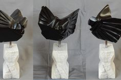 Artist Ronald Sullivan, title Contemplating Flight, medium Black and White marble, 46x30x20 cm, 12.25 kilos. Click on the link for more.  | Experience Jamaique Ronald Sullivan, Black And White Marble, Medium, Gallery, Link, Artist, Fashion, Moda, Roof Rack