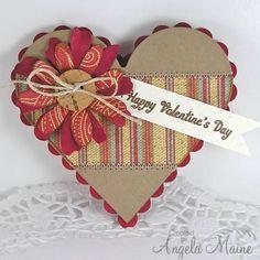 Cork Button Valentine Heart Card...