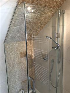 Small Bathroom With Shower, Loft Bathroom, Upstairs Bathrooms, Downstairs Bathroom, Attic Bedroom Designs, Attic Design, Loft Design, Attic Shower, Half Bath Remodel