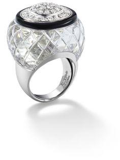 PHILLIPS : UK060111, David Webb, A rock crystal and diamond ring, by David Webb