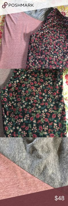 Lularoe outfit!! Lularoe Irma (large) and TC leggings. Bought as an outfit and worn once and washed once per LLR guidelines. The Irma, in my opinion, runs big. Can easily fit someone that prefers an XL in Irmas. LuLaRoe Pants Leggings