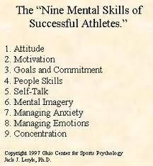 Mental Preparation is everything