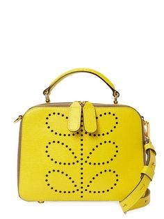 Orla Kiely Textured Leather Mini Bay Bag
