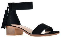 009250c5d5e City Classified Chunky High-Heeled Dress Strap Over The Ankle Sandal Black  Nb  fashion