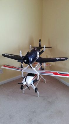 "Stackable PVC RC Airplane Stands - I used schedule 40 PVC with no glue. Great for planes up to 1400mm (55"" wingspan )"