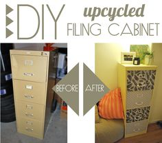 DIY Upcycled Filing Cabinet