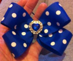 large boutique bow with bling centre