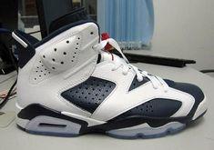 6d76f2b85f2 Newest 384664 130 Youth Big Boys Air Jordan 6 Retro Olympic White Midnight  Navy Varsity Red