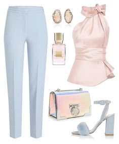 A fashion look from March 2018 featuring pink necktie, cropped capri pants and heeled sandals. Browse and shop related looks. Classy Outfits, Stylish Outfits, Fashion Outfits, Womens Fashion, Polyvore Outfits, Polyvore Fashion, Outing Outfit, Dressed To Kill, Elegant Outfit