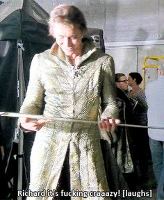 """It is. ❤ {""""Lee receiving Thranduil's sword for the first time might be one of the most precious things I've ever seen he's so passionate """"}"""
