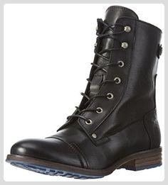 Mustang Damen 2853-509 Combat Boots, Schwarz (9 Schwarz), 42 EU - Stiefel für frauen (*Partner-Link)