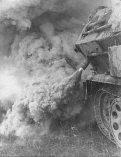 smokescreen from Sd.Kfz. 251 Ausf. B