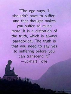 Transcending Suffering | Eckhart Tolle