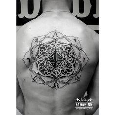Satanic tattoo by Rafael Guerrero Vila en Badabink Valencia Tattoo. [Info y reservas en el 666852293 (Whatsapp) o en la Calle Jesús 24]. Valencia.