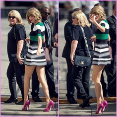 Arriving with Andrea to Jimmy Kimmel