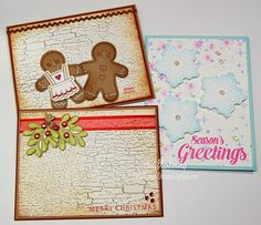 Embellished Dreams: JustRite Papercraft Tutorial Tuesday - Quick and Easy Christmas Cards with a YouTube Video