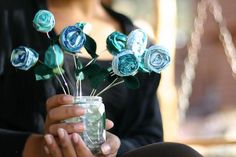 DIY Make A Fabric Flower Gift Bouquet DIY Flowers