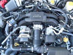 2 liter 4 cylinder SUBARU BOXER engine of the new 2015 Subaru BRZ Series.Blue