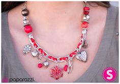 Charmed I'm Sure Red  https://shop.paparazziaccessories.com/35304