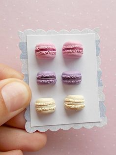 Food Earrings Set Macaron Earrings Sweet Earrings Mini